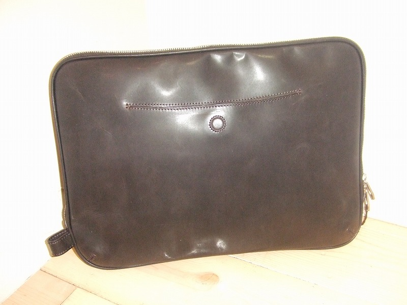 Leather clutch(BLACK)