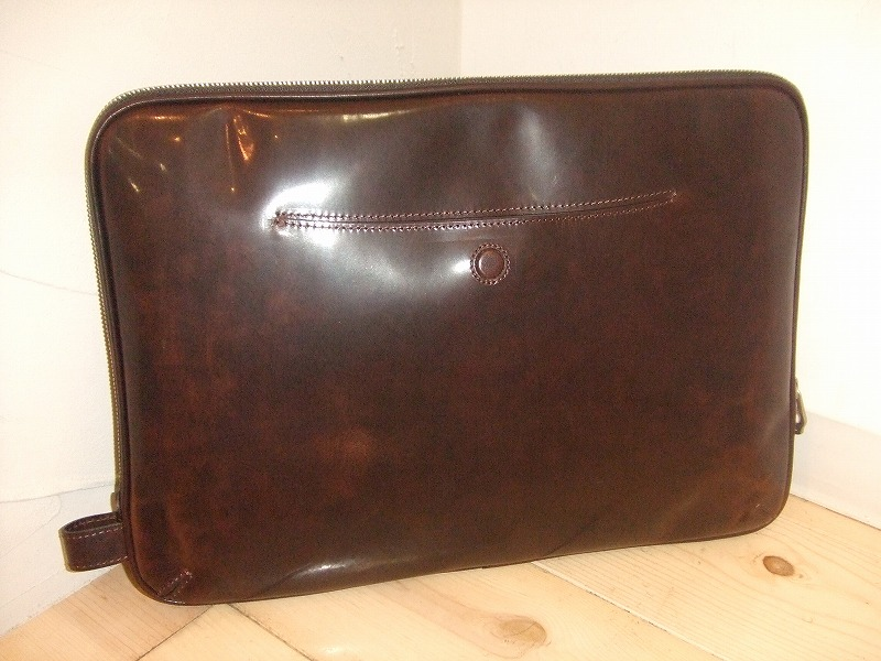 Leather clutch(DARK BROWN)