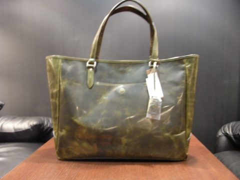 Leather Tote(GREEN)