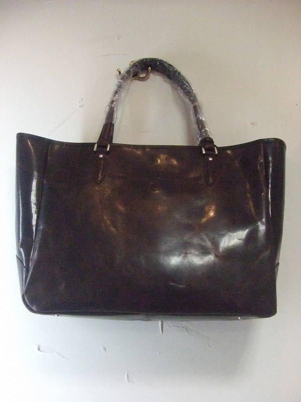 Leather Tote(DARK BROWN)