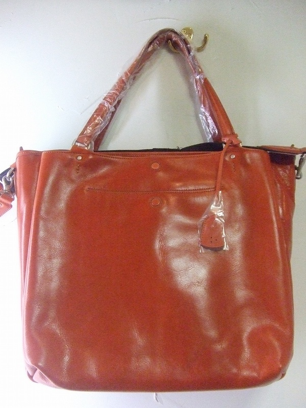 Leather 2way Tote(ORANGE)