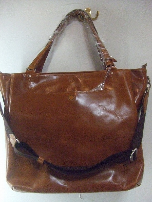 Leather 2way Tote(BROWN)