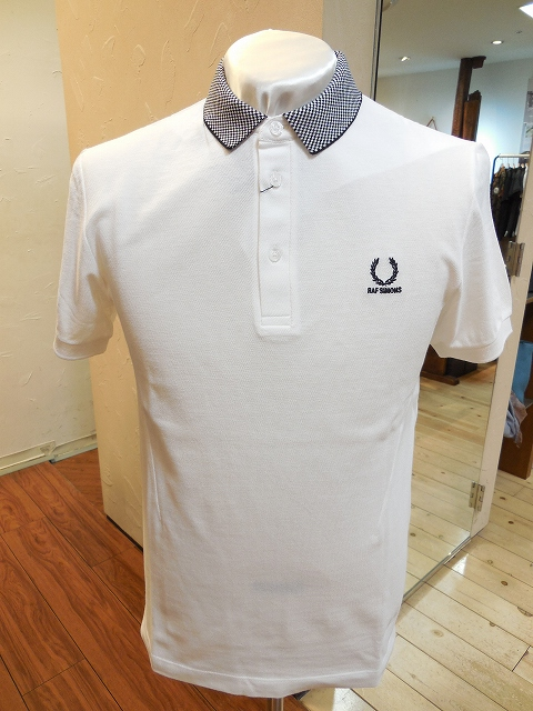 FRED PERRY×RAF SIMONSチェックカラーポロ(WHT)