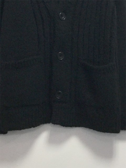 Shaggy Knit Cardigan BLACK 18AW