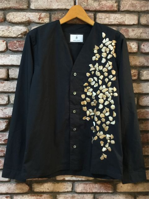 Embroidered Cardigan Shirt 18AW NAVY