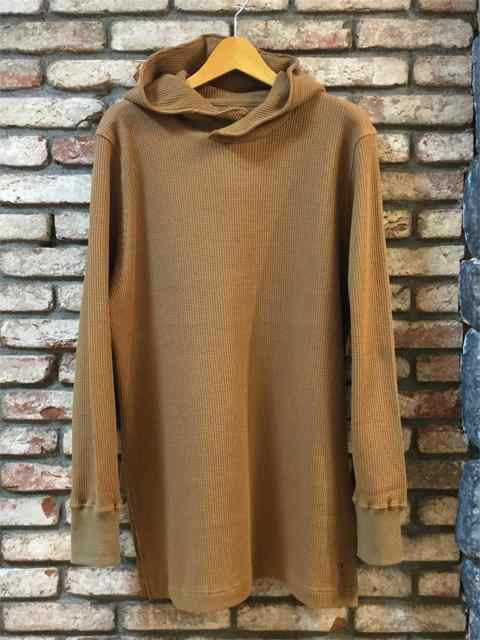 Waffle Hooded Pull-over 18AW CAMEL