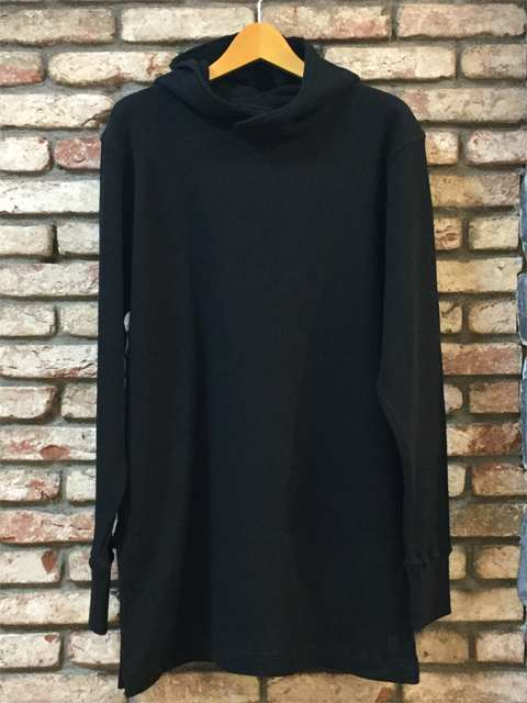 Waffle Hooded Pull-over 18AW BLACK