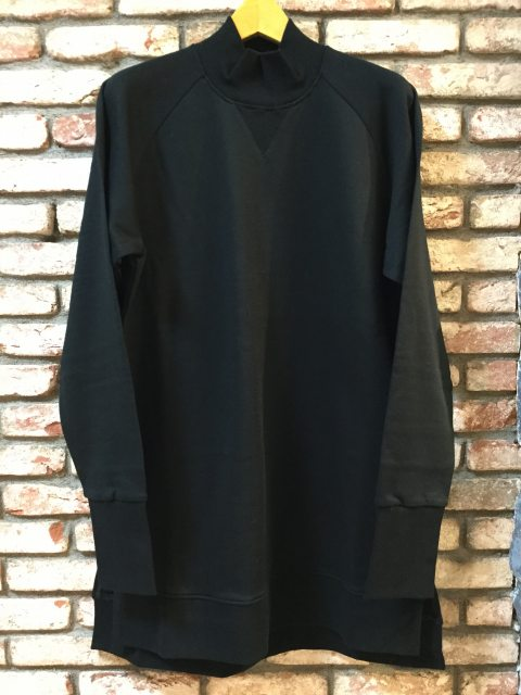 High-neck Sweat Pull-over BLK 18AW