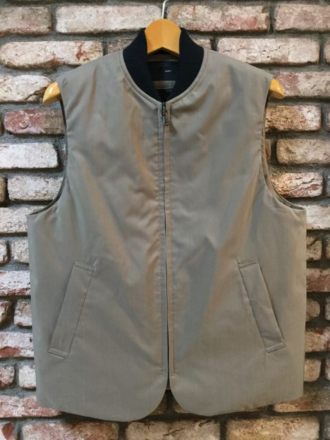 KNOTT MEN ZIPUPベスト KHAKI 18AW