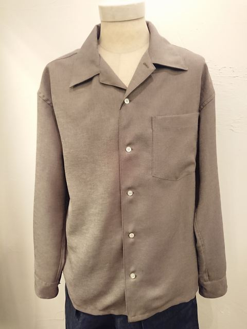 n.hoolywood CAMP COLLAR SHIRT 19SS KHAKI
