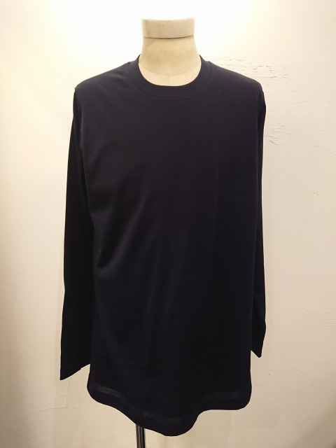 Layered Front Long T-shirt NAVY 19AW