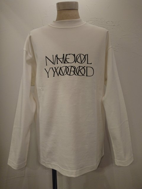 n.hoolywood LONG SLEEVE T-SHIRT WHITE 19AW