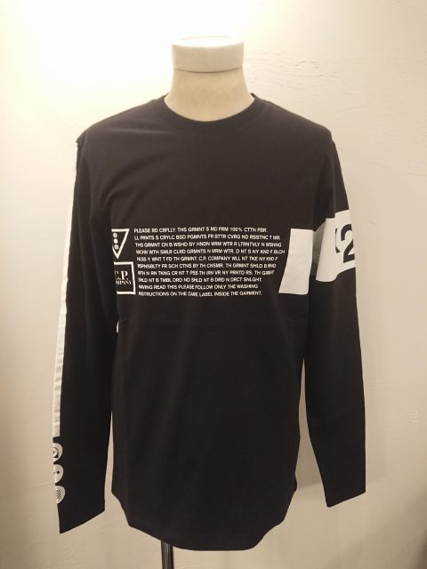 C.P.COMPANY LSGraphicCrewT-shirt BLACK 20SS