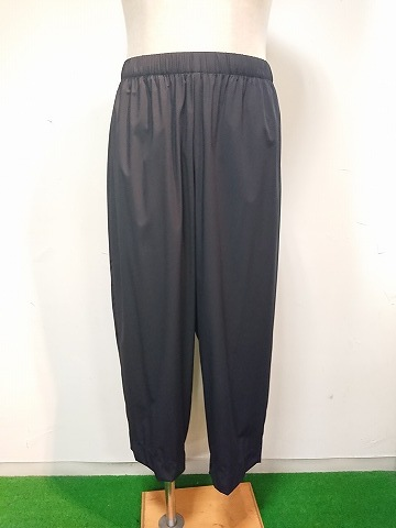 n.hoolywood RIBBED EASY PANTS 21SS BLK