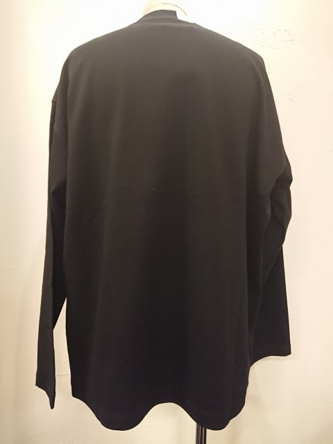 n.hoolywood LONG SLEEVE T-SHIRT BLACK 19AW